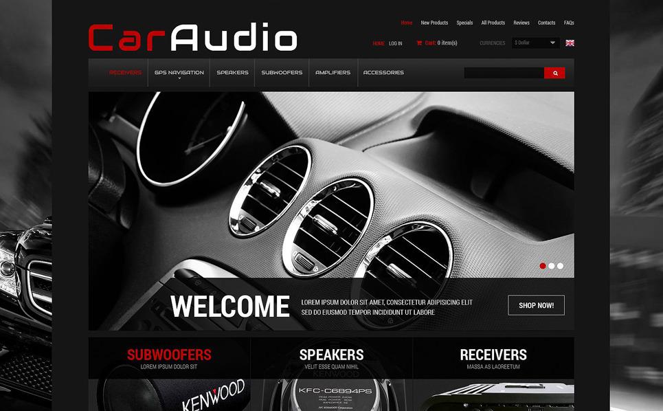 Szablon ZenCart #52436 na temat: audio samochodowe New Screenshots BIG