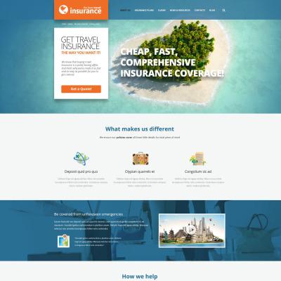 Tema de WordPress #51127 para Sitio de Seguros