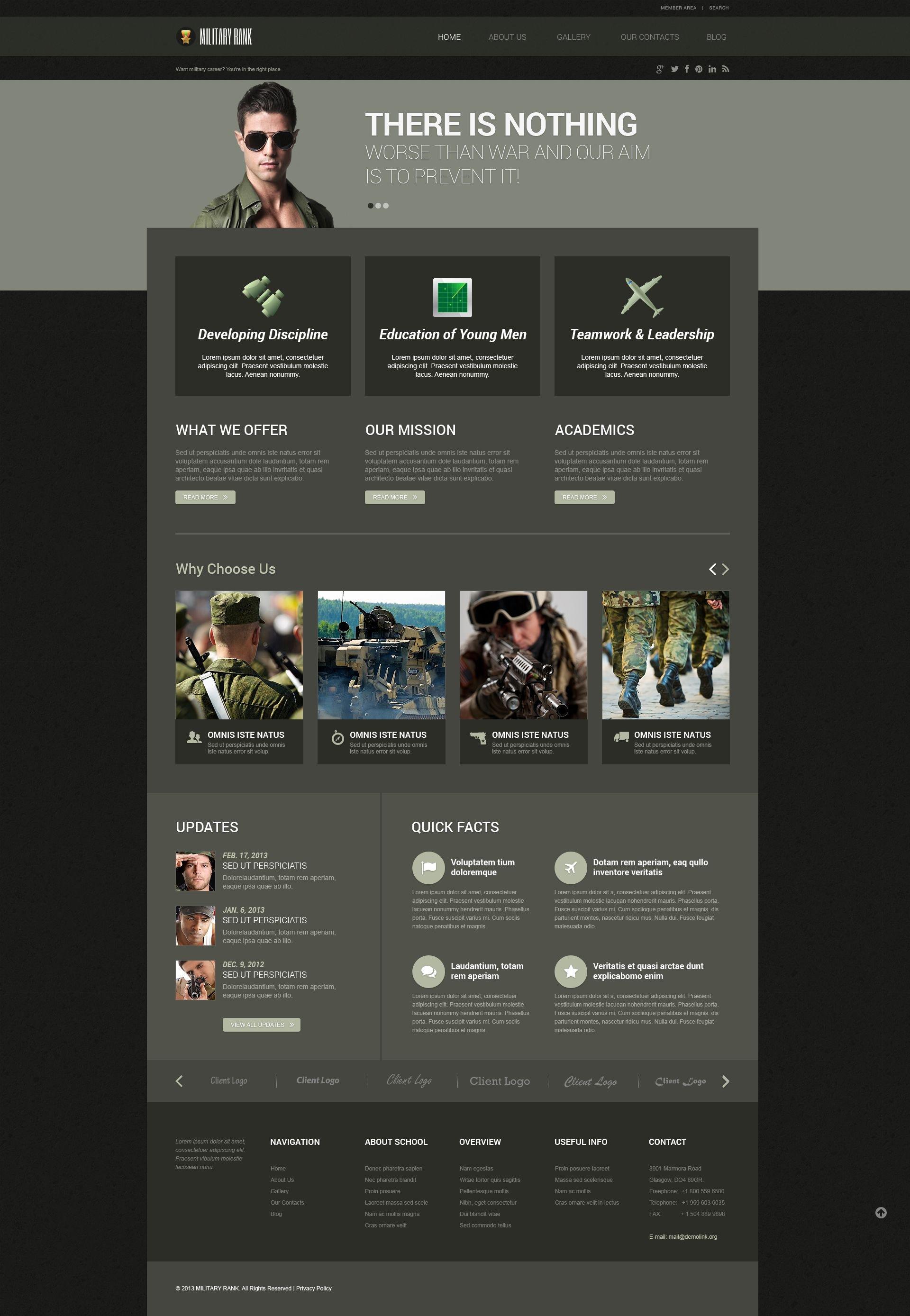 Tema De WordPress Responsive para Sitio de Sitios militares #52472