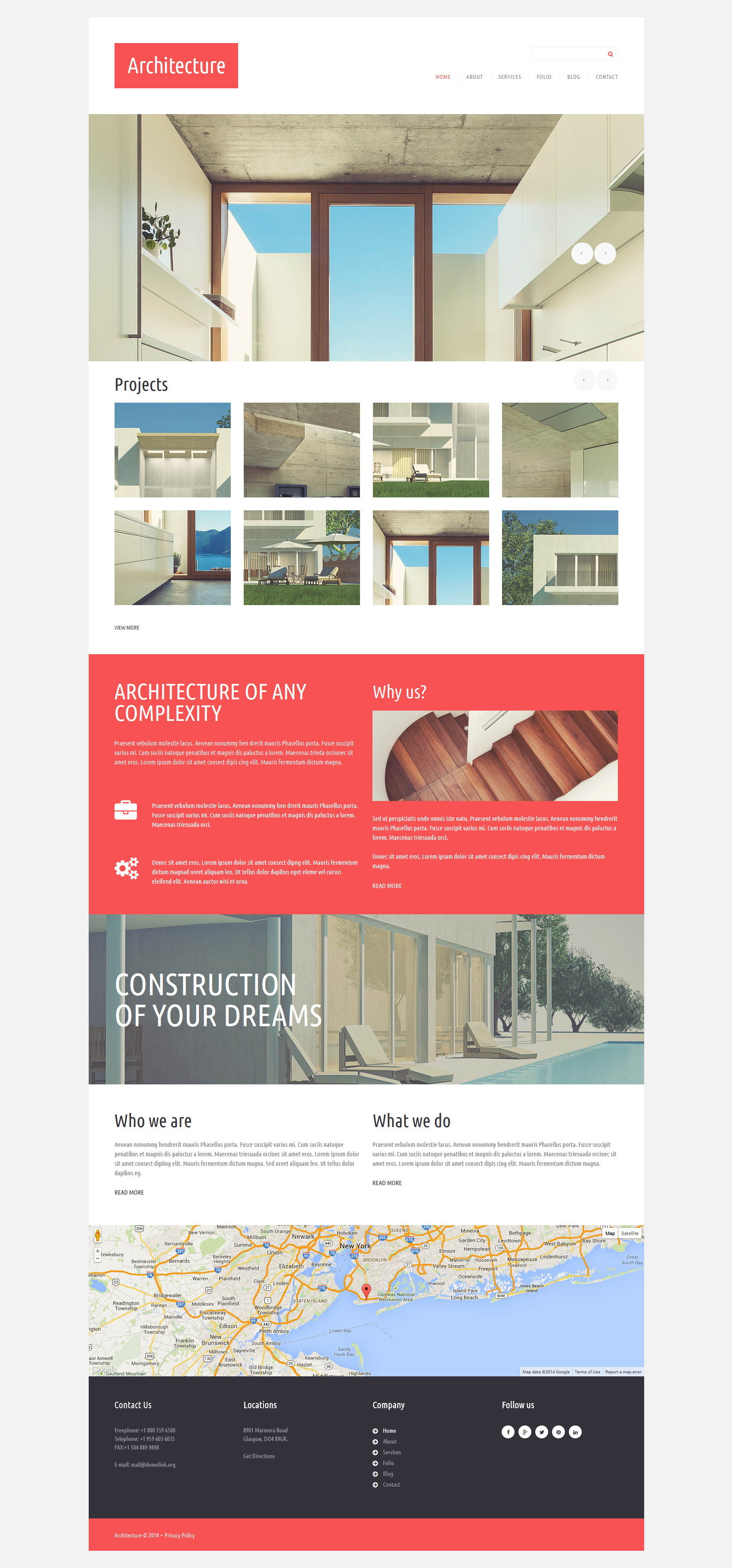 "Template Joomla Responsive #52411 ""Architettura"" - screenshot"