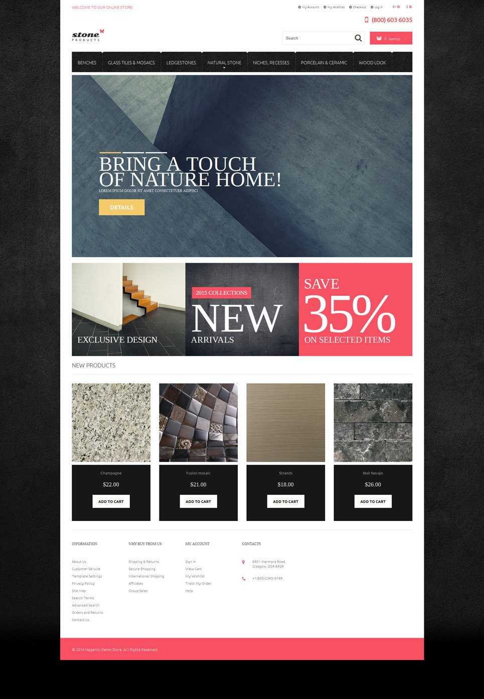 Tiles Stone Magento Theme New Screenshots BIG