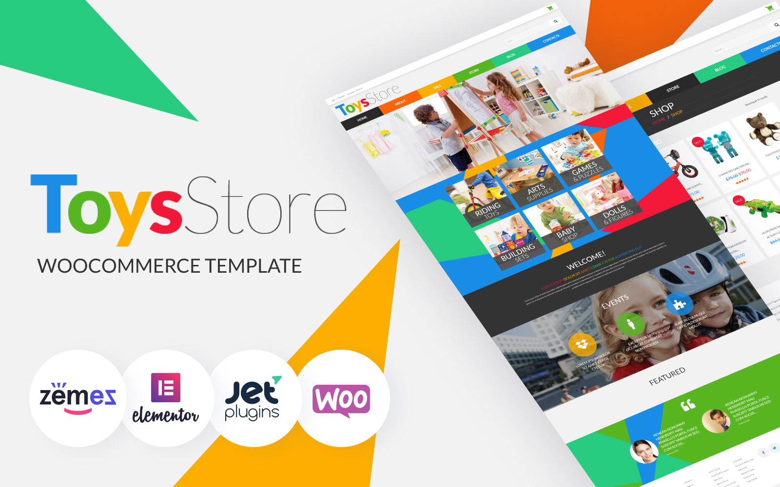 """""""Toys for Kids"""" Responsive WooCommerce Thema №52481"""