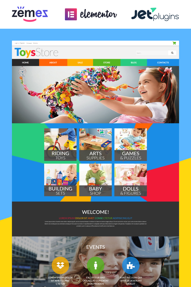 """""""Toys for Kids"""" 响应式WooCommerce模板 #52481"""