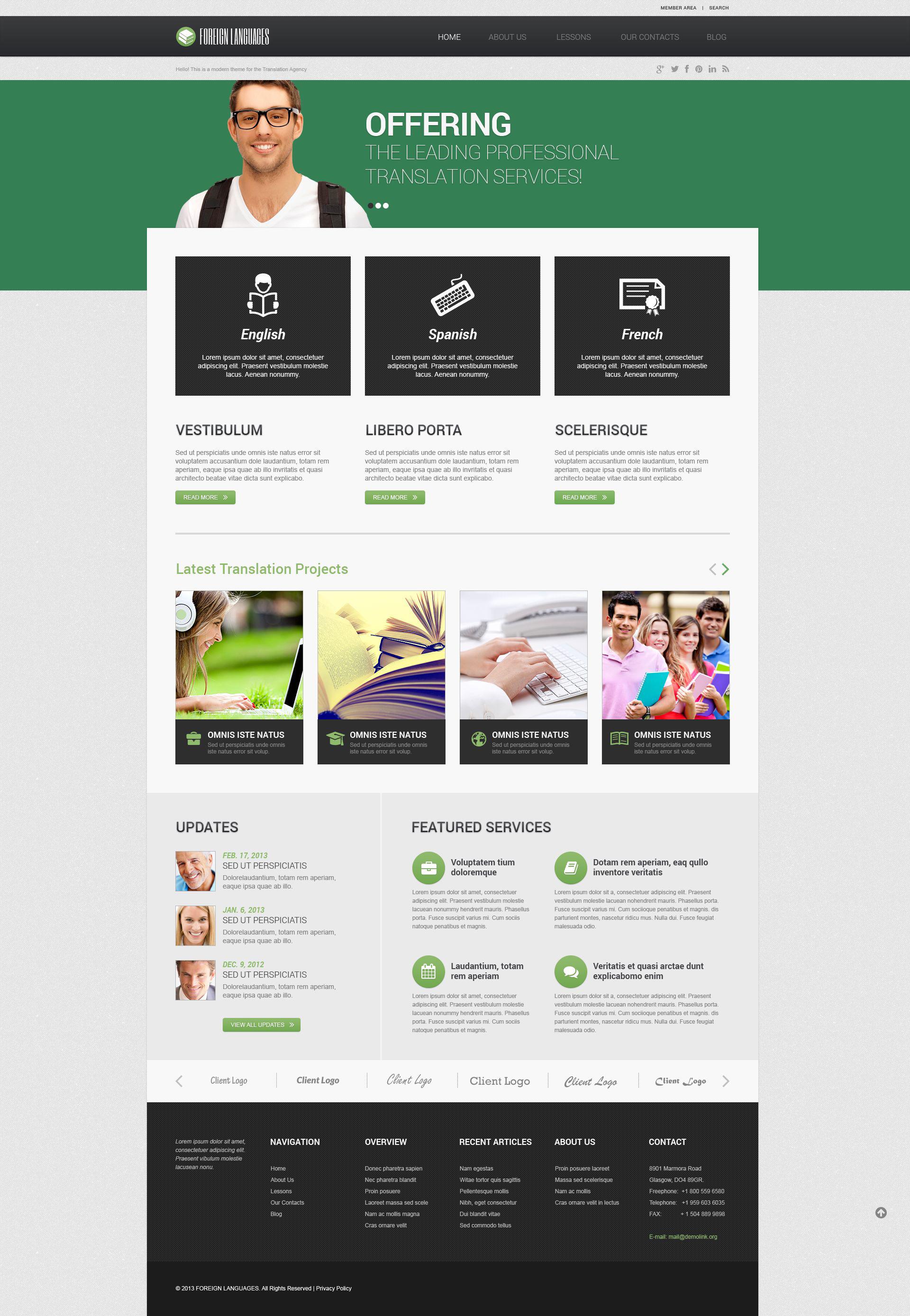 Translation Bureau Responsive WordPress Theme - screenshot