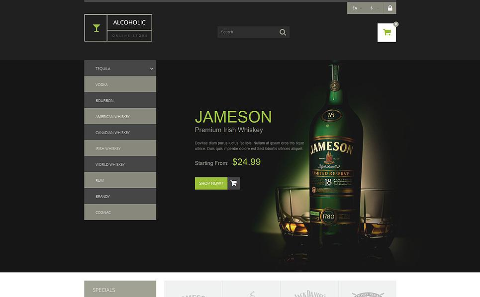 """""""Vente de boissons"""" thème PrestaShop adaptatif New Screenshots BIG"""