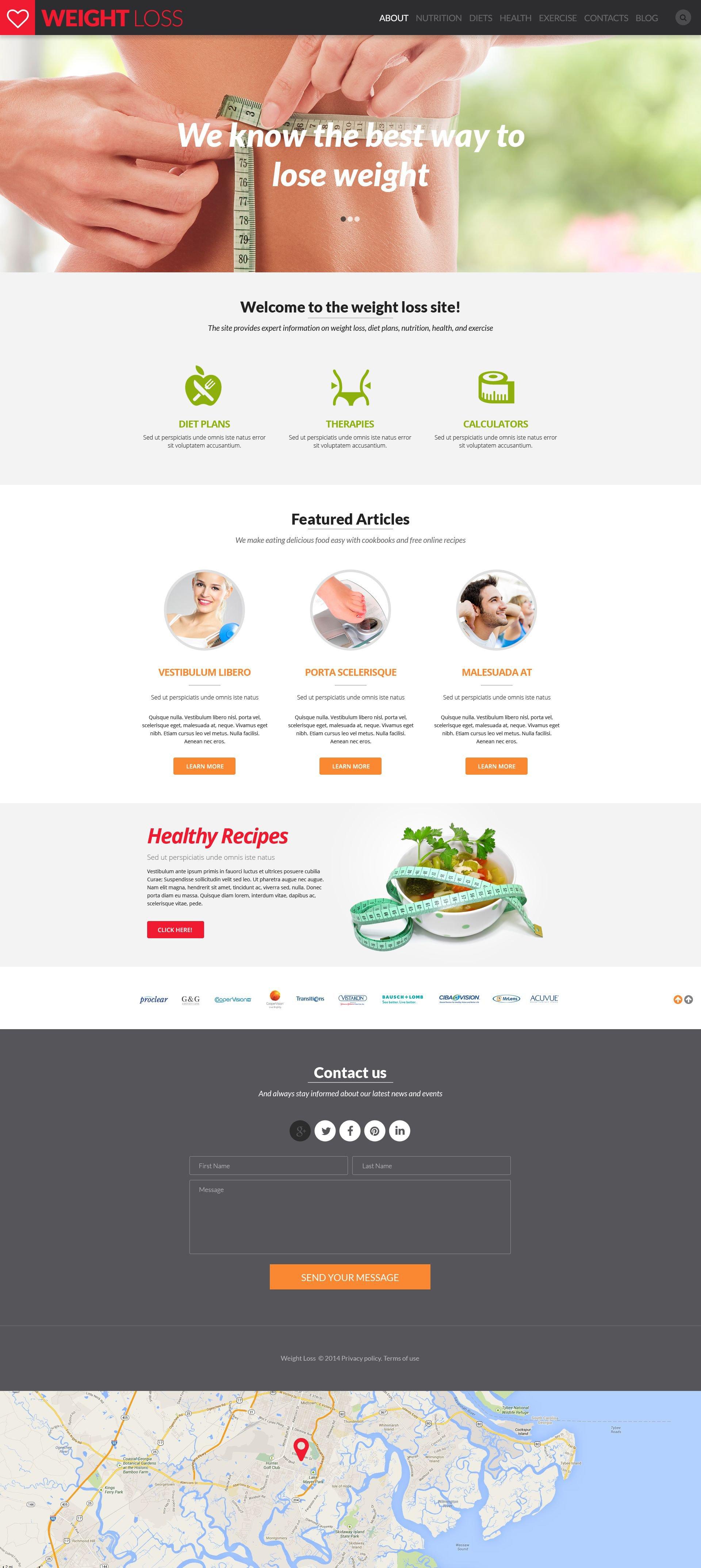 weight loss website template 52450