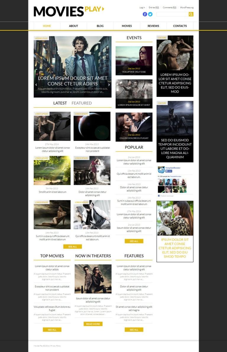World Fashion News Portal WordPress Theme New Screenshots BIG