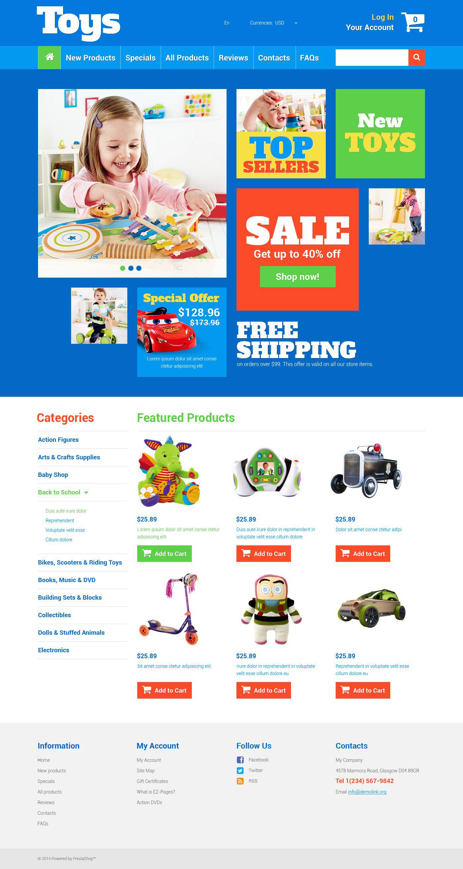 ZenCart Vorlage für Spielzeuggeschäft #52432