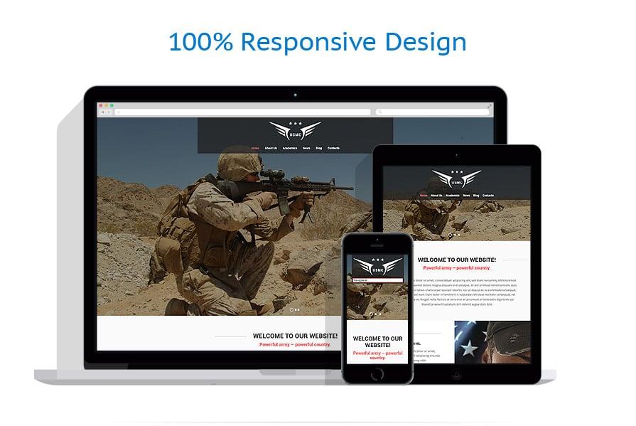 Modèles HTML5 Militaire #52500