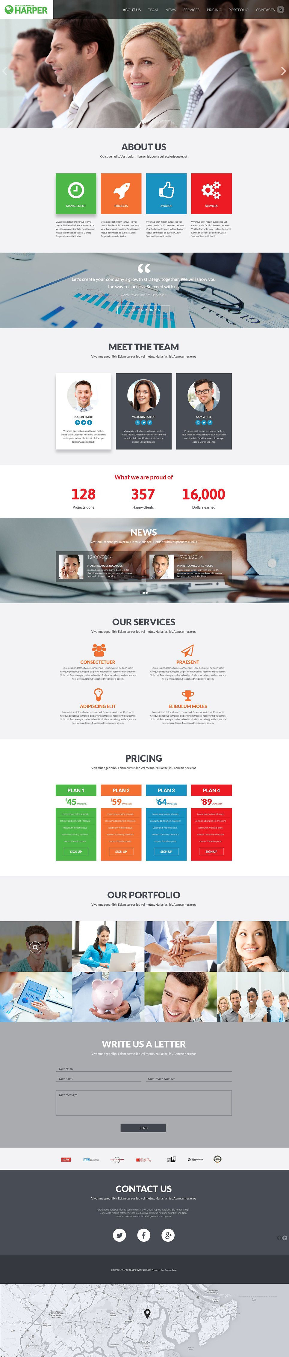 Business Consulting Agency template illustration image