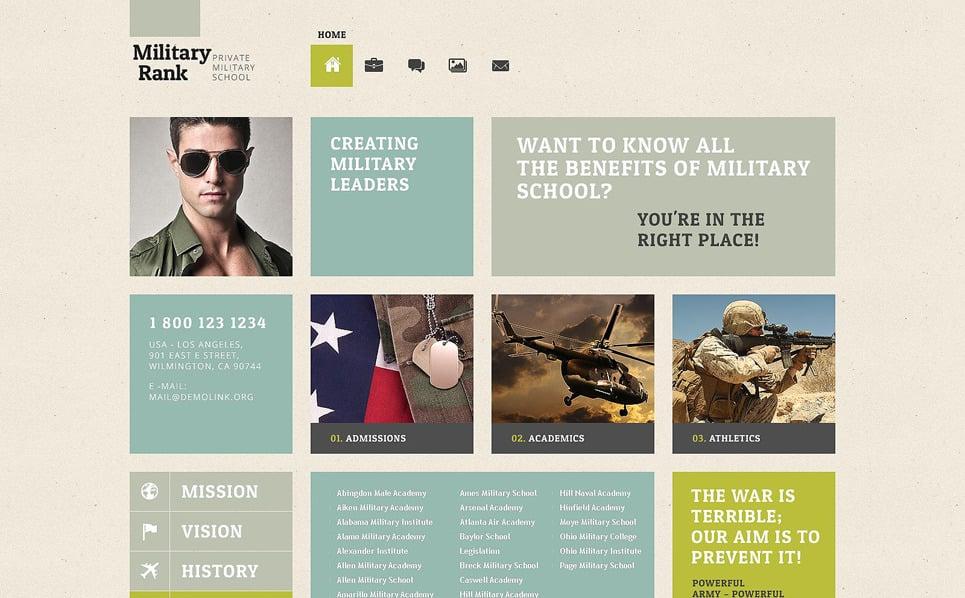 Reszponzív Katonaság WordPress sablon New Screenshots BIG