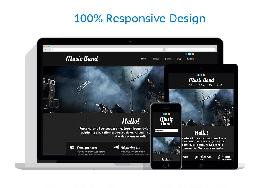 Modèles HTML5 Musique #52511