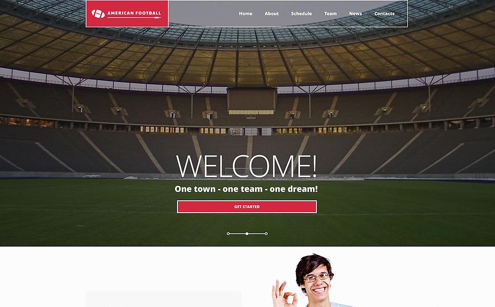 Responzivní Šablona webových stránek na téma Fotbal New Screenshots BIG