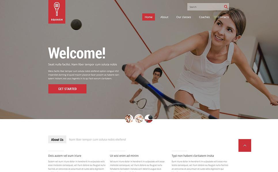 Template Web Flexível para Sites de Squash №52519 New Screenshots BIG