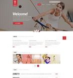 Sport Website  Template 52519