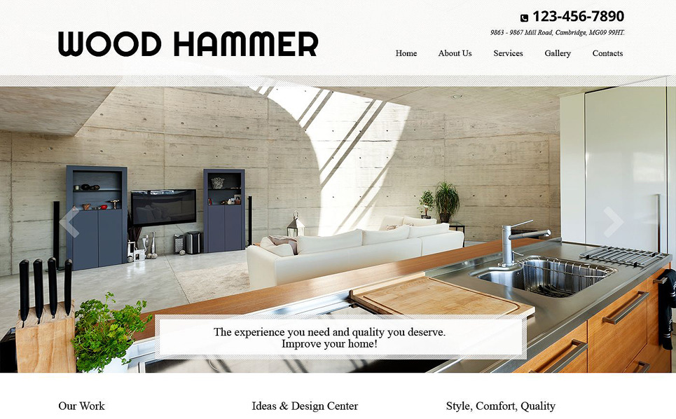 Responsive Website template over Huis Remodeling  New Screenshots BIG