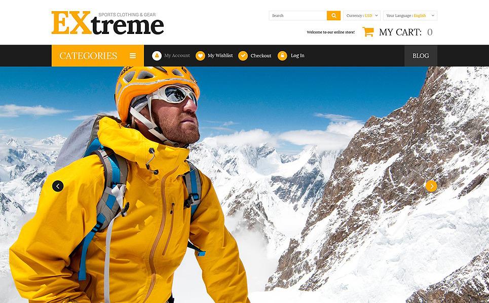 Responsywny szablon Magento Sklep odzieży i sprzętu do sportów ekstremalnych #52534 New Screenshots BIG