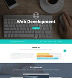 Software Website  Template 52537