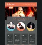 Entertainment Website  Template 52539