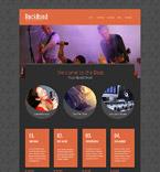 Music Website  Template 52541