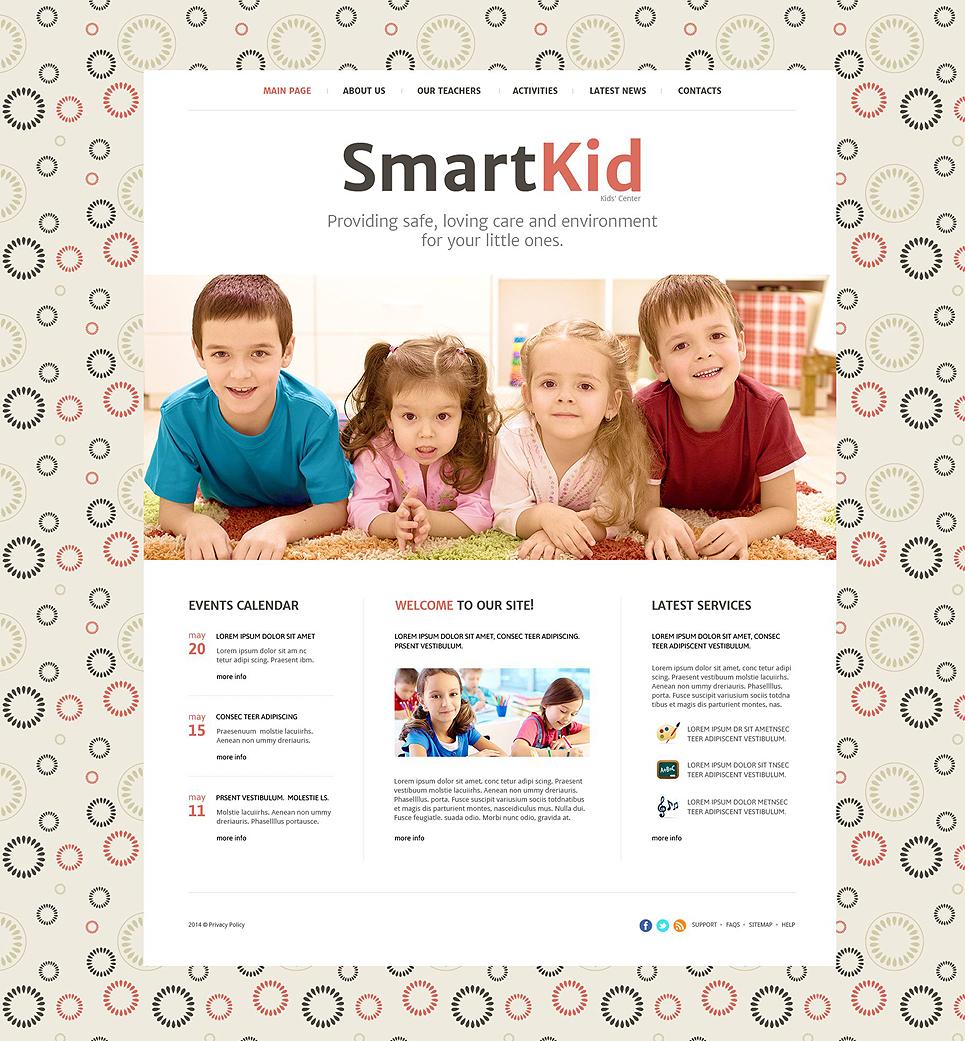 Smart Kid template illustration image