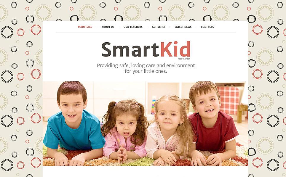 Reszponzív Gyermekcentrumok  Weboldal sablon New Screenshots BIG
