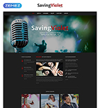 Music Website  Template 52543