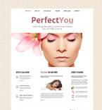 Beauty Website  Template 52544