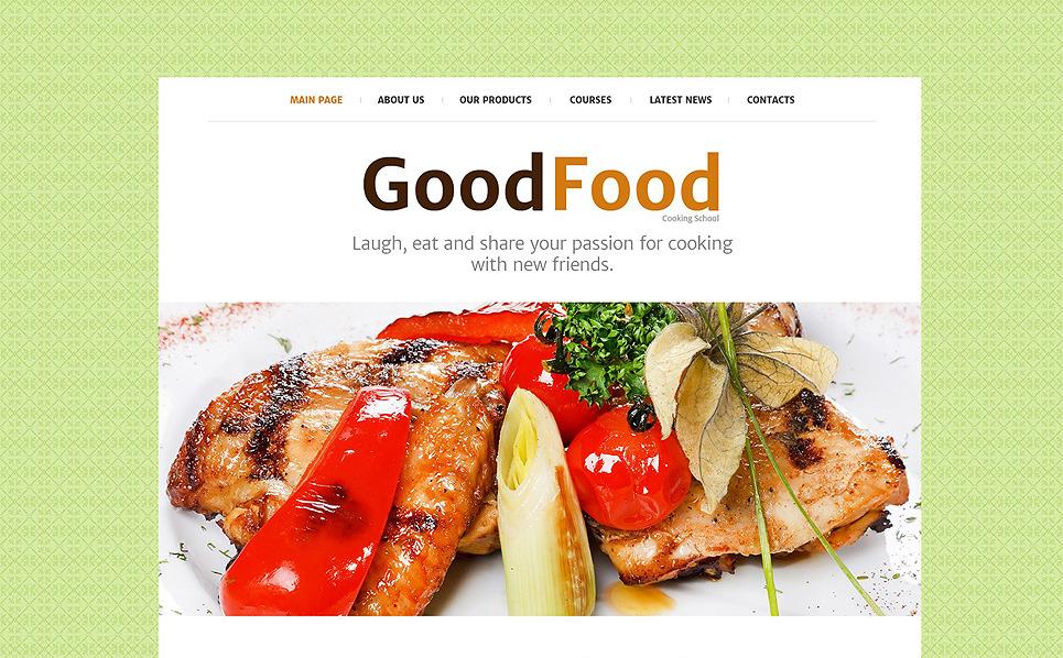 Plantilla Web Responsive para Sitio de Escuela de cocina New Screenshots BIG
