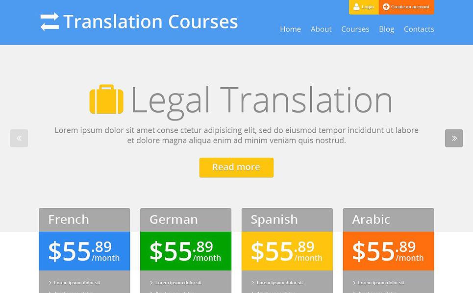 Responzivní WordPress motiv na téma Jazykové školy New Screenshots BIG