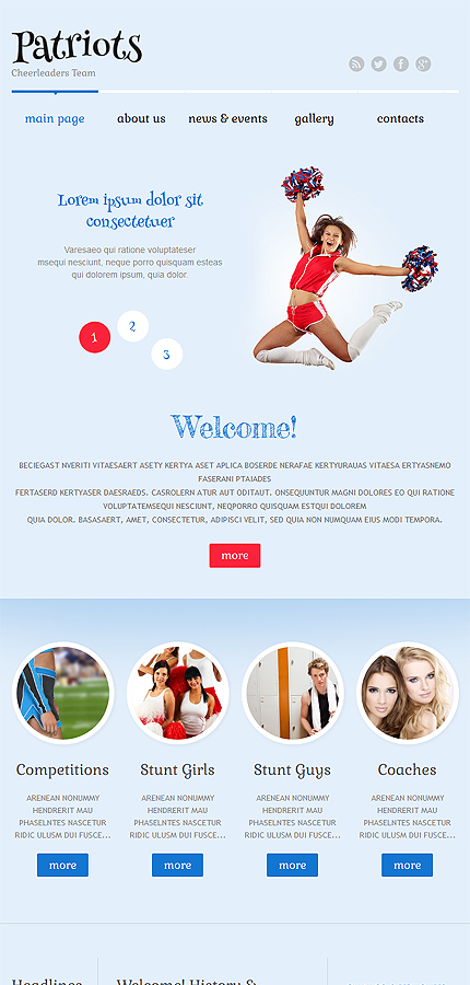 WordPress Theme/Template 52558 Main Page Screenshot
