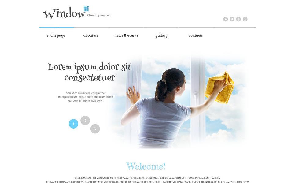Responzivní WordPress motiv na téma Mytí oken New Screenshots BIG