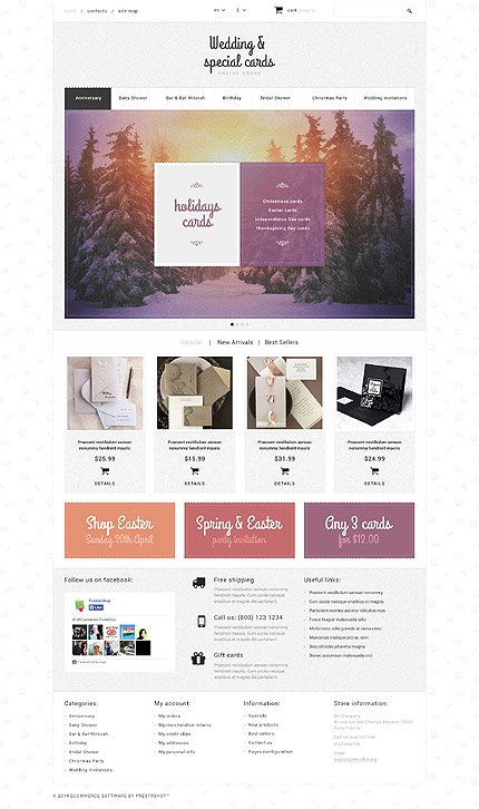 ADOBE Photoshop Template 52566 Home Page Screenshot