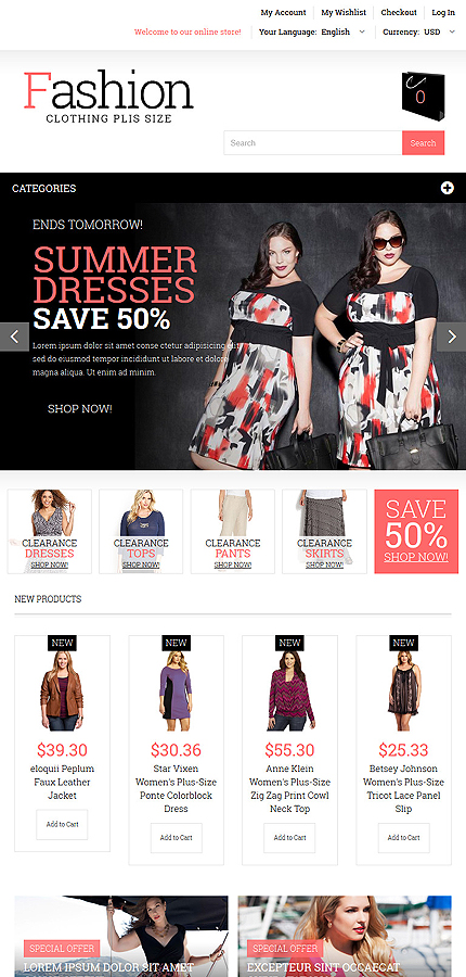 Magento Theme/Template 52567 Main Page Screenshot