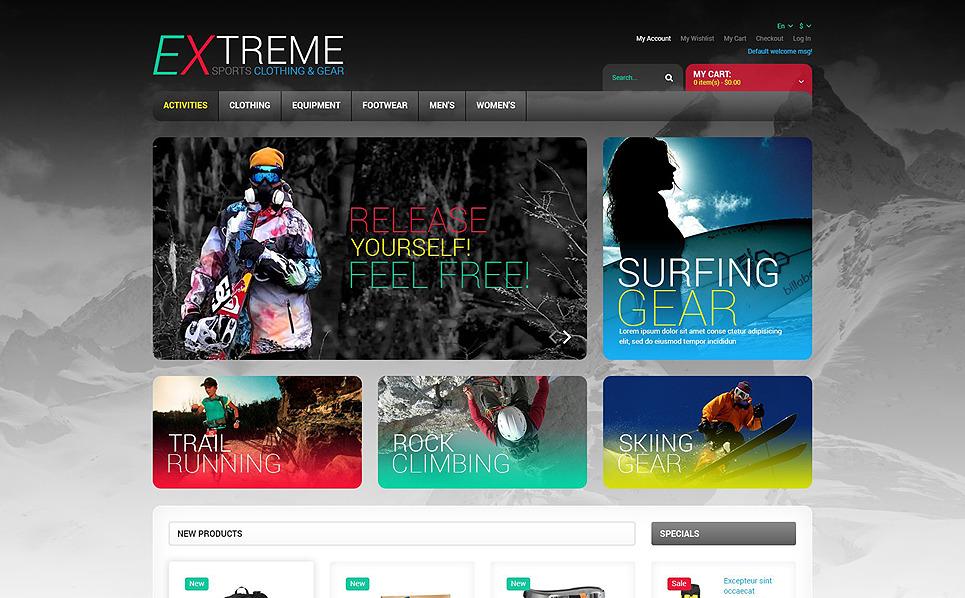 Responzivní Magento motiv na téma Extrémní sporty New Screenshots BIG
