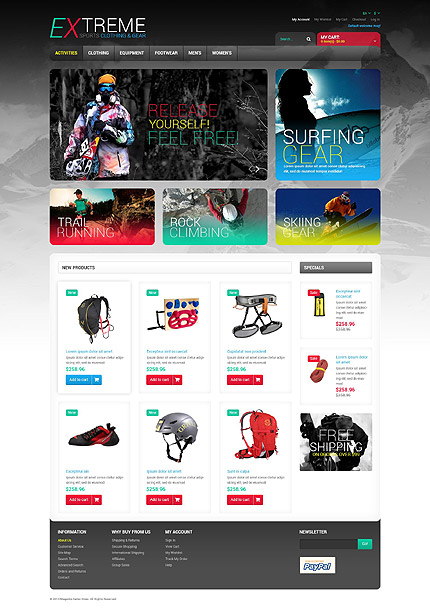 Magento Theme/Template 52574 Main Page Screenshot