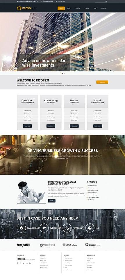 Joomla Theme/Template 52577 Main Page Screenshot