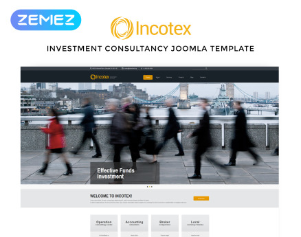 Incotex - Investment Company Clean Joomla Template