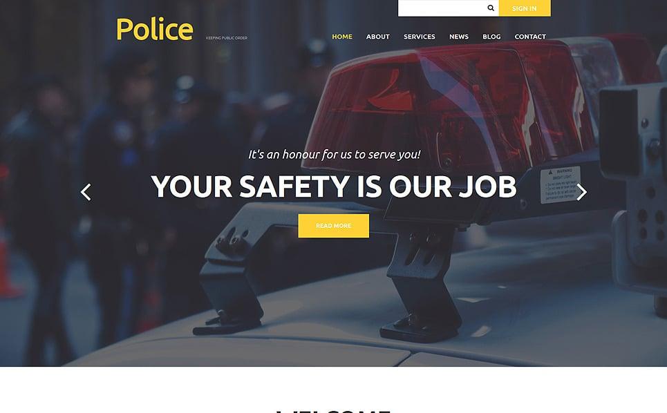 Reszponzív Rendőrség Joomla sablon New Screenshots BIG