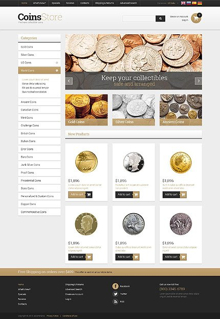osCommerce Template 52580 Main Page Screenshot