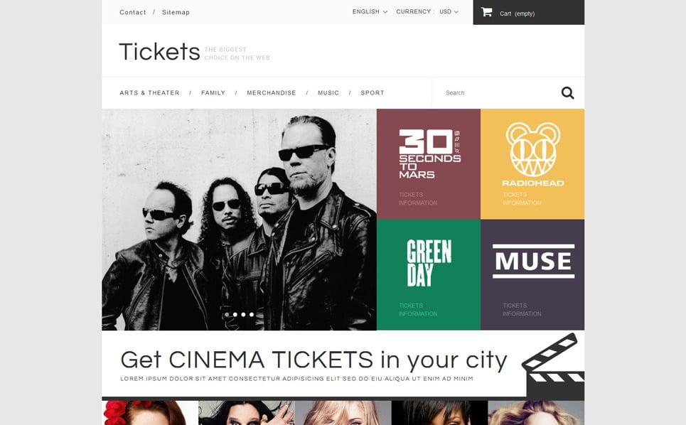 Responsywny szablon PrestaShop #52581 na temat: strona z biletami New Screenshots BIG