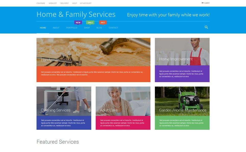 Responzivní WooCommerce motiv na téma Služby údržby New Screenshots BIG