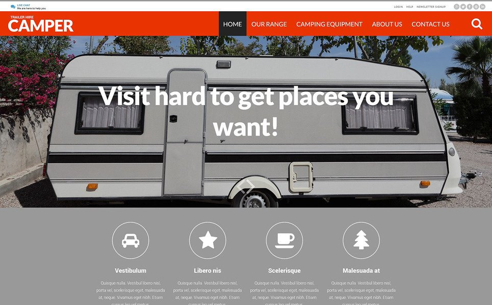 Modello Siti Web Responsive #52583 per Un Sito di Camping New Screenshots BIG