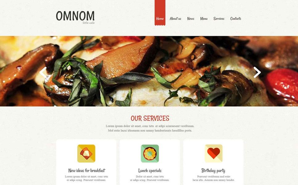 Reszponzív Európai éttermek Drupal sablon New Screenshots BIG