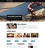 Religious Drupal  Template 52592