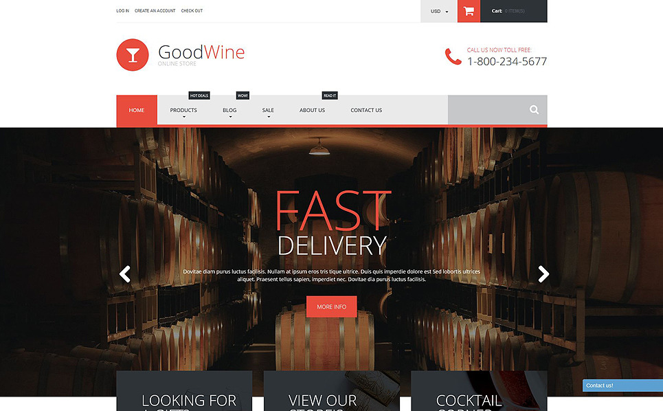 Адаптивний Shopify шаблон на тему вино New Screenshots BIG