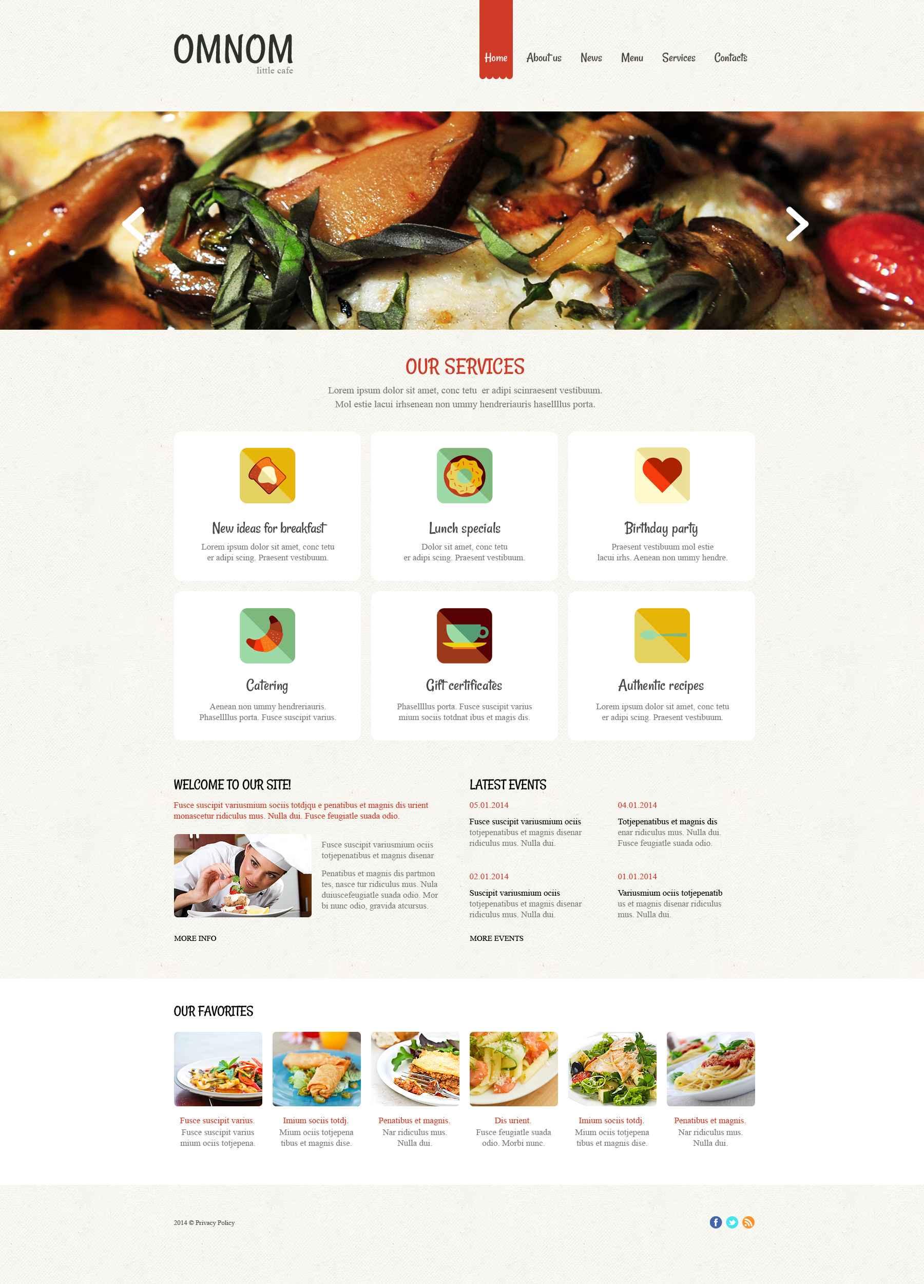 Адаптивний Drupal шаблон на тему європейський ресторан №52590