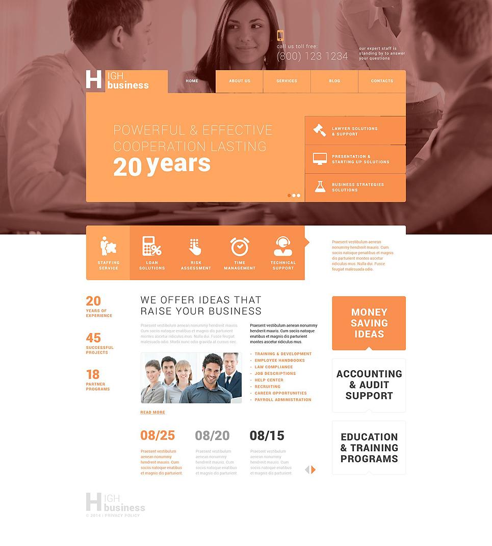 Адаптивный шаблон сайта на тему бизнес и услуги #52503
