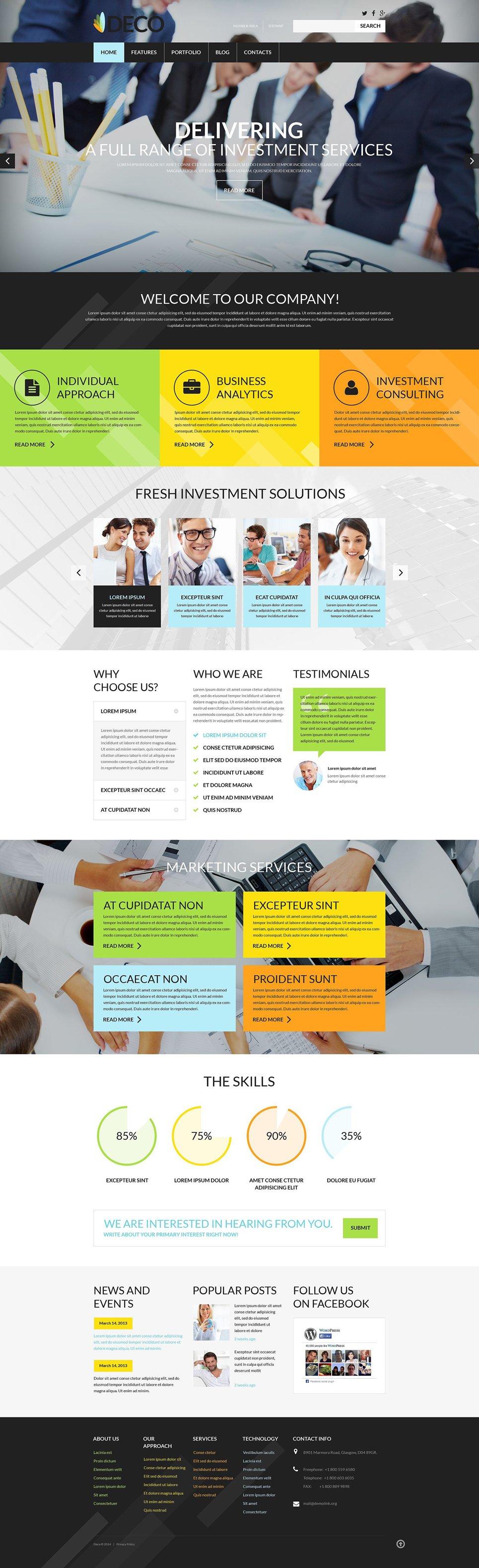 Адаптивный шаблон сайта на тему бизнес и услуги #52504