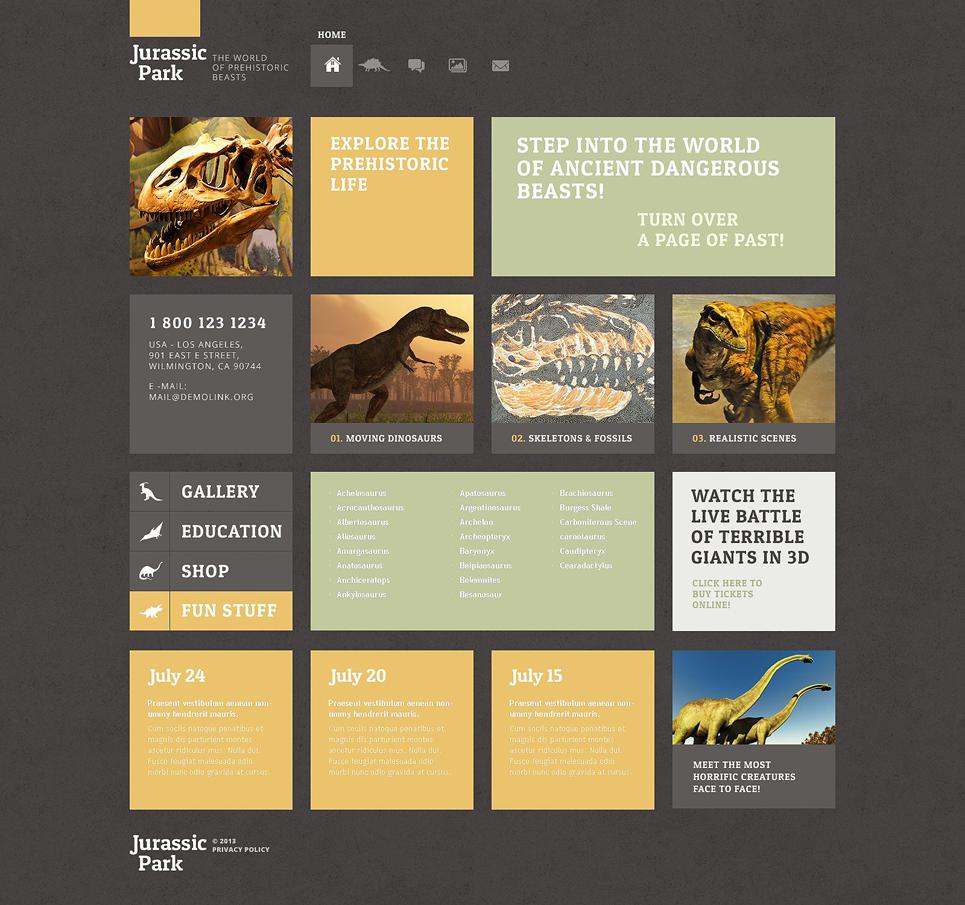Адаптивный шаблон сайта на тему музей #52507